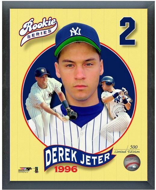 "Derek Jeter New York Yankees Rookie Series - 11 x 14 Framed Photo ""LE"" 500"