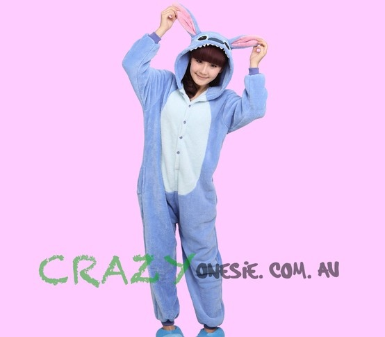 Blue Stitch Onesie. 25% off EVERYTHING in store. Free Express Delivery Australia-wide. Visit www.crazyonesie.com.au for more details. Visit our Facebook page https://www.facebook.com/crazyonesie for exclusive competitions and discounts