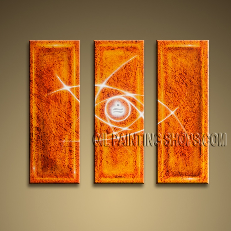 Colorful Modern Abstract Painting Hand-Painted Art Paintings For Living Room Abstract. This 3 panels canvas wall art is hand painted by Bo Yi Art Studio, instock - $135. To see more, visit OilPaintingShops.com