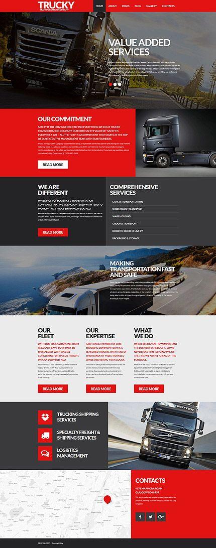Template 62150 - Trucky Transportation  Responsive Joomla Template