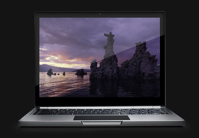 "Google Chromebook Pixel. 12.85"" Gorilla Glass multi-touch screen, 2560×1700, Retina-beating resolution, 3:2 photographic format designed for the web. Intel Core i5 processor, 4GB RAM, 32GB SSD with 3yrs sub to Google Drive cloud storage (1TB)."
