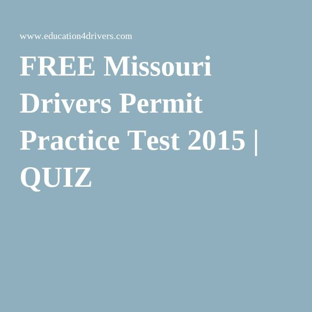 FREE Missouri Drivers Permit Practice Test 2015 | QUIZ 2