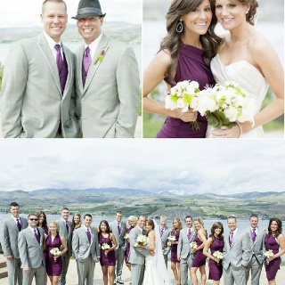 I like the individual shots with our bridal party.  For their keeping too.