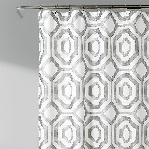 Drouin Octagon Single Shower Curtain With Images Lush Decor