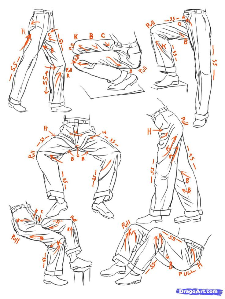Scribble Drawing Tutorial : Best d clothes pants images on pinterest art