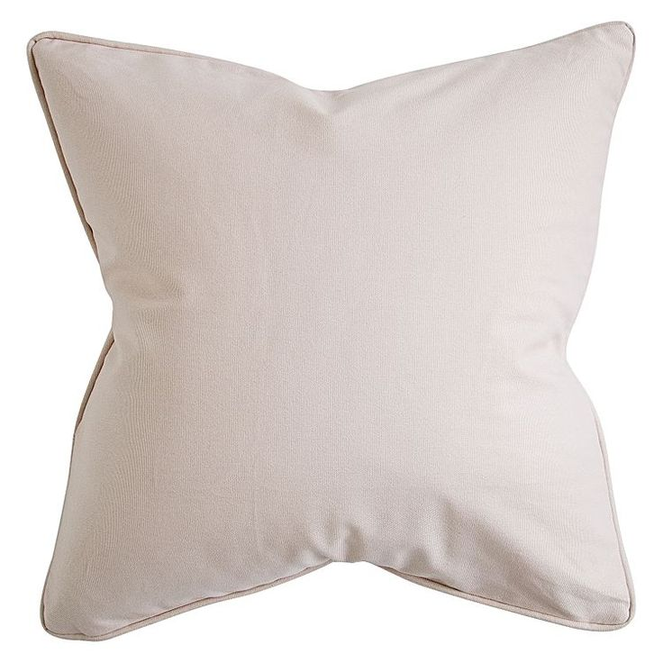Tone down your décor with the soothing hue of the cosy cotton Plain Cushion, Eggshell from Urban Road.