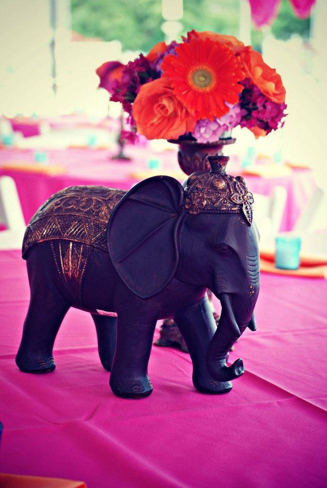 Elephant centerpiece ceremony decor pinterest