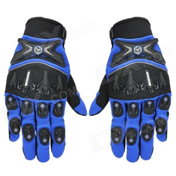 Brand: SCOYCO; Model: MX47; Quantity: 2 piece(s); Type: Gloves; Material: Super fiber + lycra + neoprene; Color: Blue + black; Size: XL; Hand Around: 22~23 cm; Palm Width: 9.6~10.5 cm; Other Features: Protects your hands and wrist; Breathable and abrasion resistant; Great hand feeling, comfortable to wear; Packing List: 1 x Pair of gloves; http://j.mp/1v36CP6