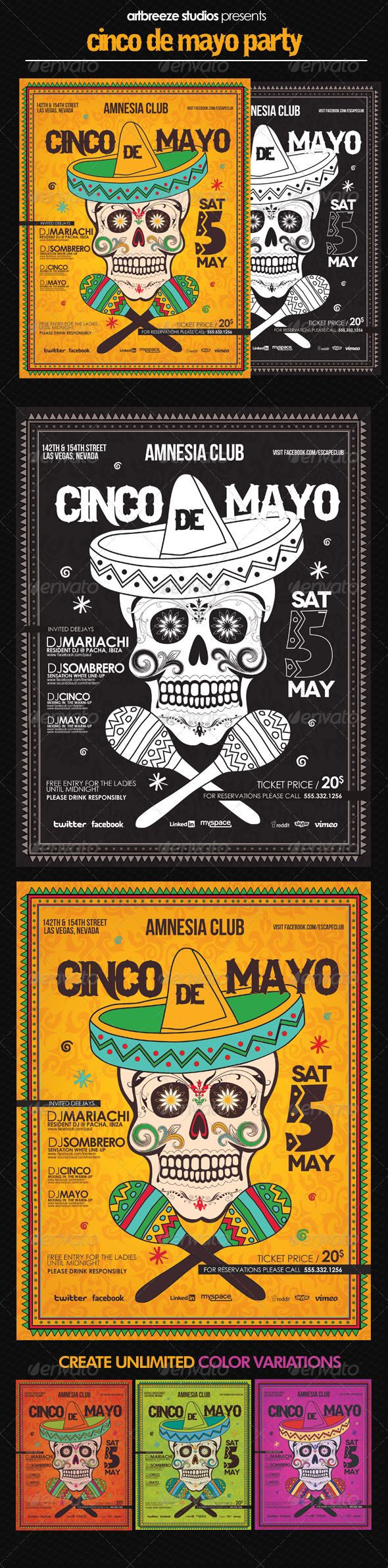 Poster design description - Buy Cinco De Mayo Poster By Artbreeze On Graphicriver Description The Perfect Set To Promote Your Cinco De Mayo Party You Can Easily Create Unique Looks
