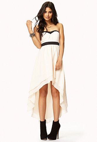 Possible bday outfit. Strapless Layered High-Low Dress   FOREVER21 - 2045987463
