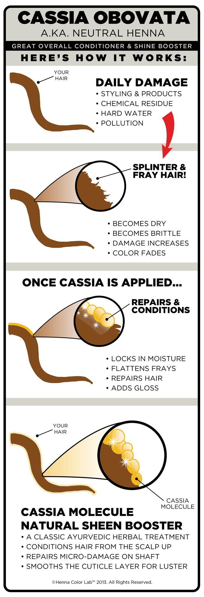 Ayurvedic Natural Hair Treatment: How Cassia Obovata (Clear Henna) Works