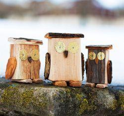 Winterliche Holzfiguren