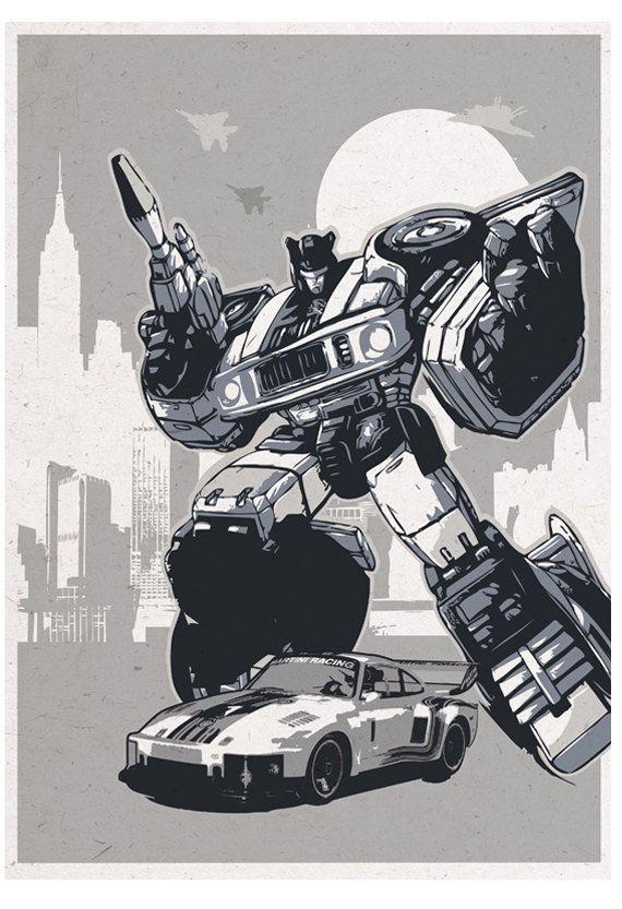 Retro Transformers Poster Set Original Prints 4 Posters