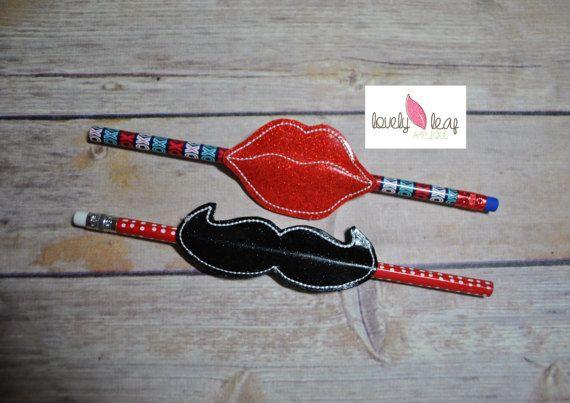 DIGITAL ITEM: Design Set ITH  Lip and Mustache Pencil Slider