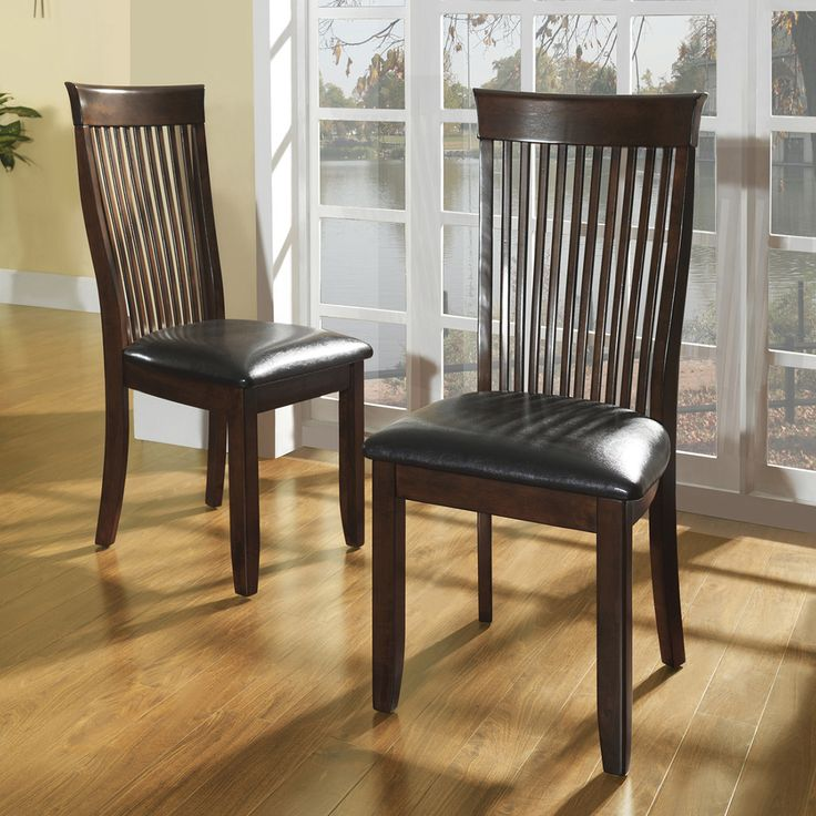 TRIBECCA HOME Winsford Burnished Cherry High Back Transitional Dining Chair  (Set of 2) | - 25+ Best Transitional Dining Chairs Ideas On Pinterest