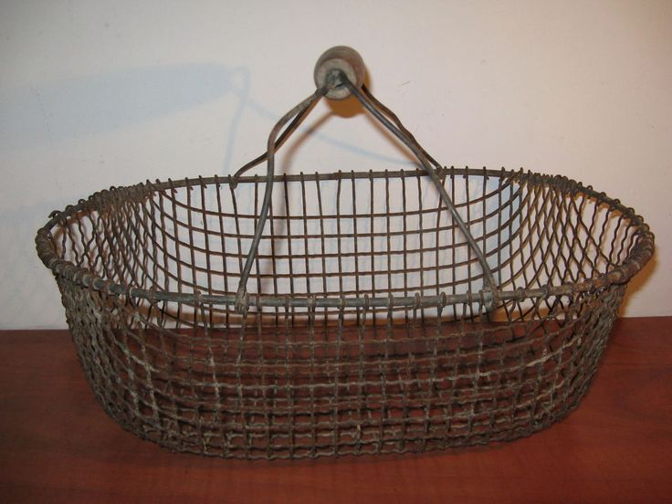Antique metal French potato basket ... #ArtDeco