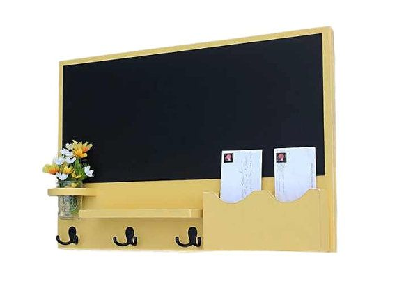 Hey, I found this really awesome Etsy listing at https://www.etsy.com/listing/468185956/mail-organizer-chalkboard-mail-organizer