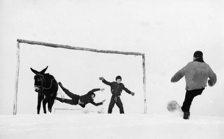 Winter Soccer, Bulgaria, 1971 by Jecko Vassilev