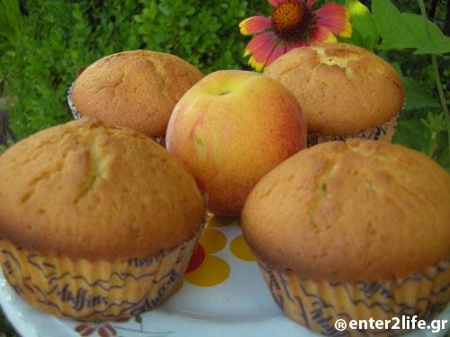 Muffins με Ροδάκινο  www.enter2life.gr