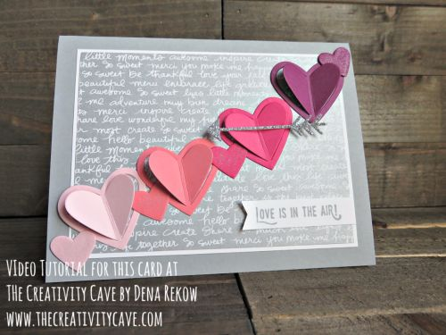 Check out my video tutorial for this beautiful card (and the card that inspired it) using Sealed with Love Stamp Set and Love Note Framelits from Stampin Up at www.thecreativitycave.com #stampinup #thecreativitycave #lovenotes #sealedwithlove