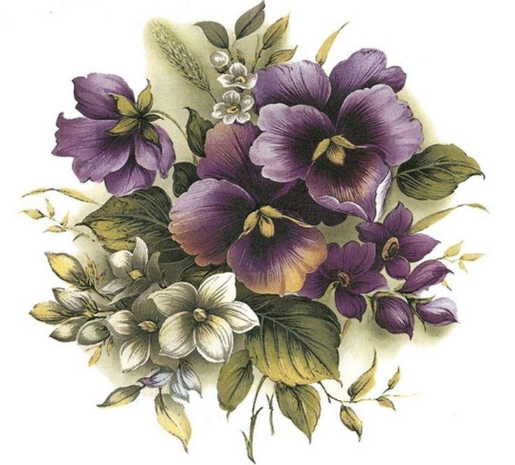 Картинки с цветами на белом фоне для декупажа