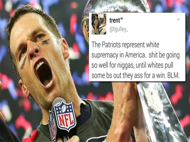 "Leftists Meltdown, Blame ""White Supremacy"" for Patriots' Super Bowl Win -- Are you kidding me? It's football!!!"