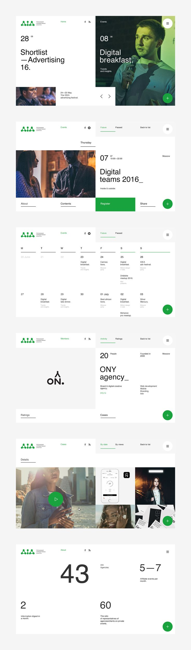 Love the green and white minimal layout great use of negative space #UI #UX