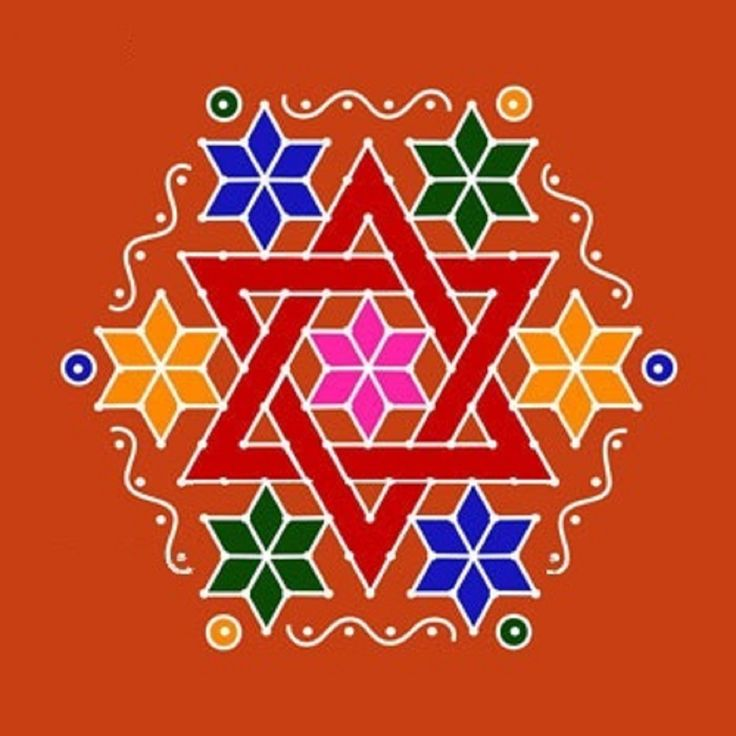 Star dot rangoli design