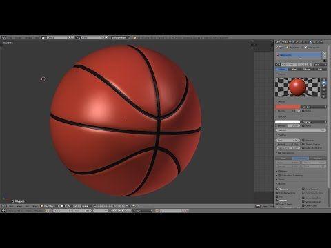 Blender Tutorial - Creating a Basketball Part 1 - YouTube