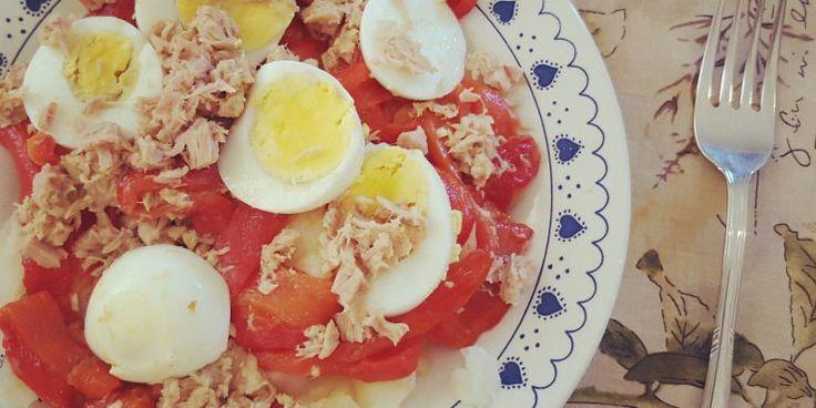 Ensalada de Patata y Pimiento Rojo - Blog Cocina Fácil