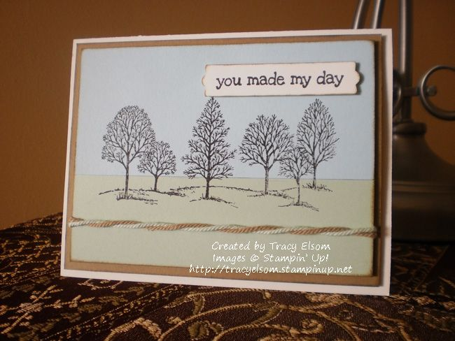 Card 4 of 24 in a personal World Cardmaking Day 2014 challenge using the Lovely as a Tree stamp set from Stampin' Up!  #WCMD2014  http://tracyelsom.stampinup.net