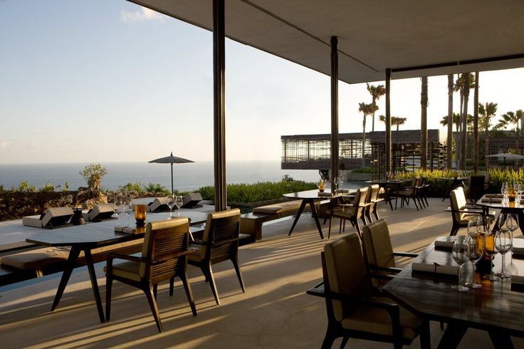 The Cire restaurant at Alila Villas Uluwatu is the place to dine with a view