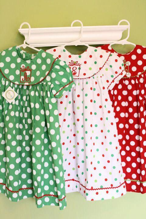 Christmas Float dress for babies and girls, Polka dots chrismtas dress up to sz 7/8X. $35.00, via Etsy.