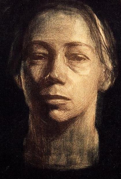 Käthe Kollwitz, Self-portrait, circa 1904