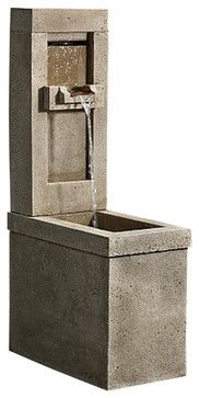 Lucas Garden Water Fountain, Greystone - traditional - Outdoor Fountains And Ponds - Soothing Company