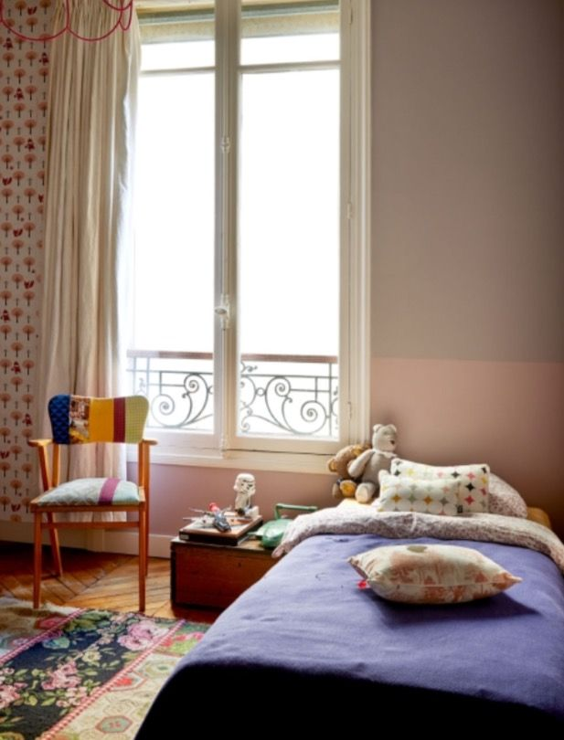 "This lovely girls bedroom is from our feature ""Paris tres Jolie"""
