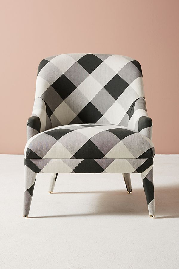 Buffalo Check Amelia Accent Chair Accent Chairs Unique
