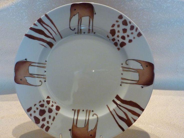 Grande assiette motif Eléphants
