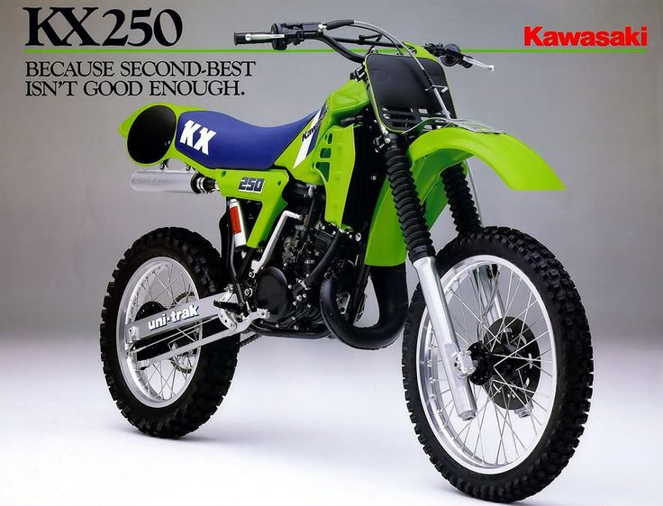 kawasaki 250 cc crosser old skool de mooiste. Black Bedroom Furniture Sets. Home Design Ideas