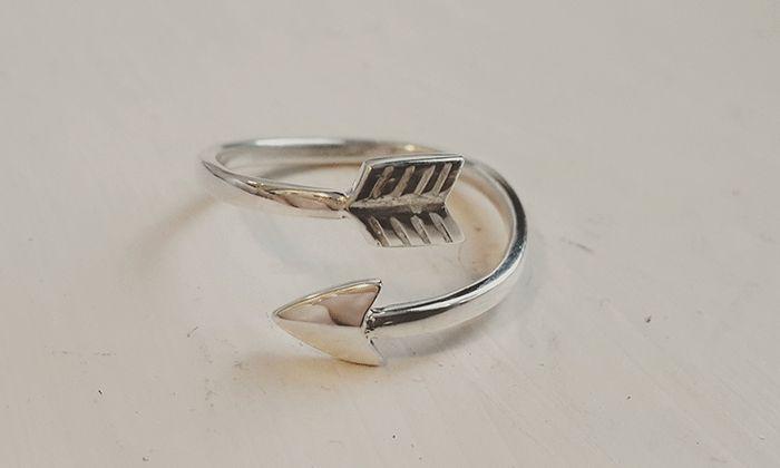 Silver arrow ring #handmade #gift #birthdaypresent #jewellery #rings