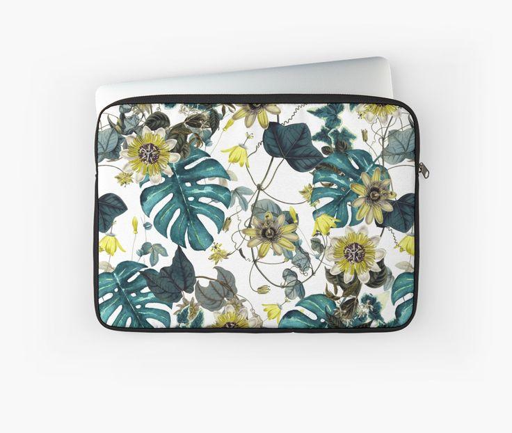 Laptop Sleeves Tropical Flowers by talipmemis
