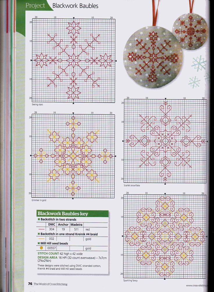 Blackwork Baubles counted cross stitch                                                                                                                                                                                 More
