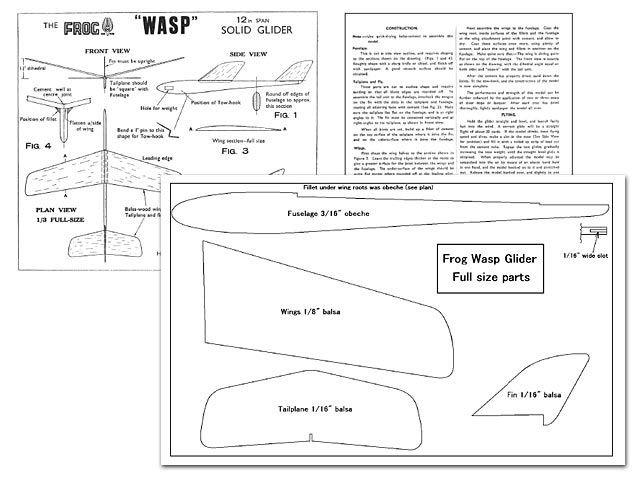 Outerzone : Wasp plan : download free vintage model aircraft plan