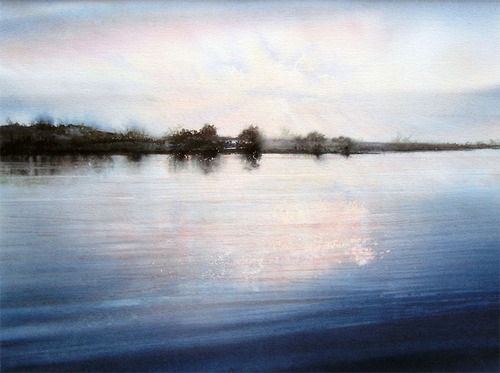Deborah Walker(British, Carsington Sunset, watercolour