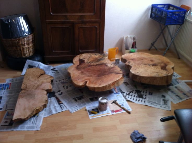 7 best images about project tree trunk table on pinterest for Tree stump table diy