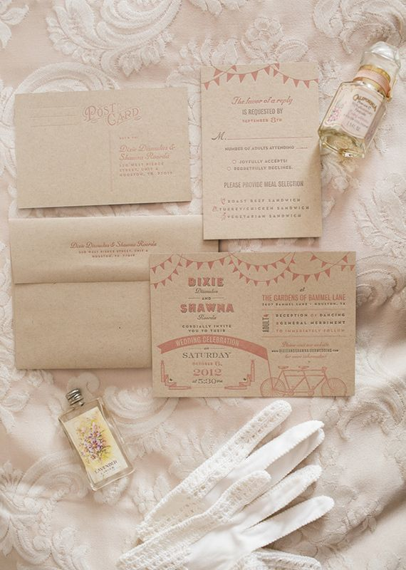 1920s themed wedding invites | photos by Mustard Seed Organic Photography | 100 Layer Cake