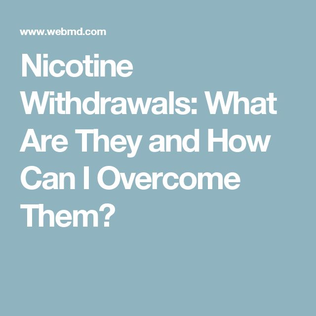 Nicotine Withdrawals: What Are They and How Can I Overcome Them?