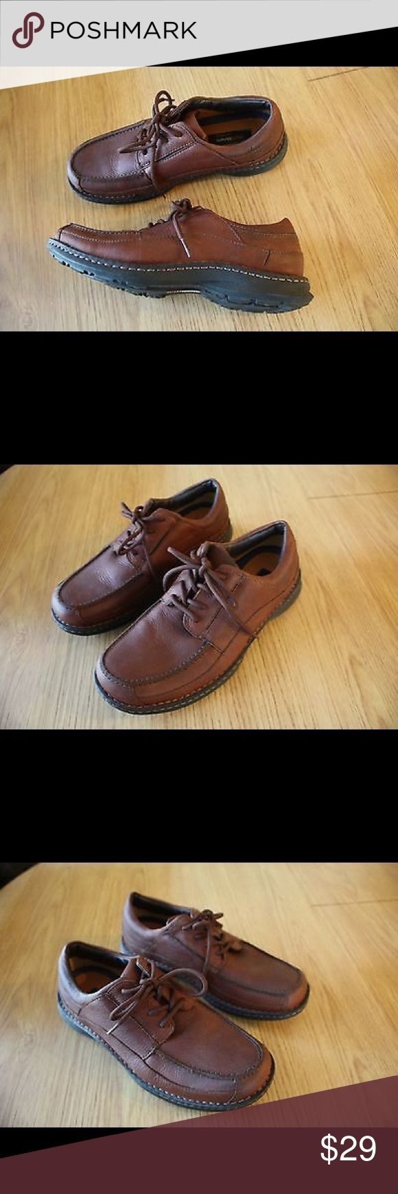 Ruff Hewn Mens Nubuck Water Proof Leather Oxfords Pre-Owned Ruff Hewn Men's Size 10 M Brown Nubuck Water Proof Leather Oxfords Sn: 94-86989  Great Condition, Minimal Wear on Soles, Minimal Scuffing / Wear of Upper, see photos for details. Ruff Hewn Shoes Oxfords & Derbys