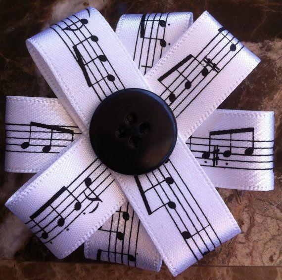 Handmade Ribbon Flower Brooch by HandmadeCraftCards on Etsy, £2.00