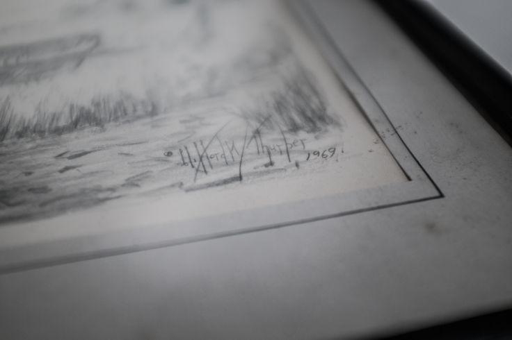 Original signed sketch for sale